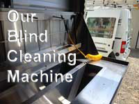 Blind cleaning service - Sunshine Window Cleaning 860.942.3322 - our machine